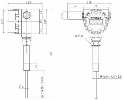 HU-43GD型无线数字温度传感器结构图.jpg